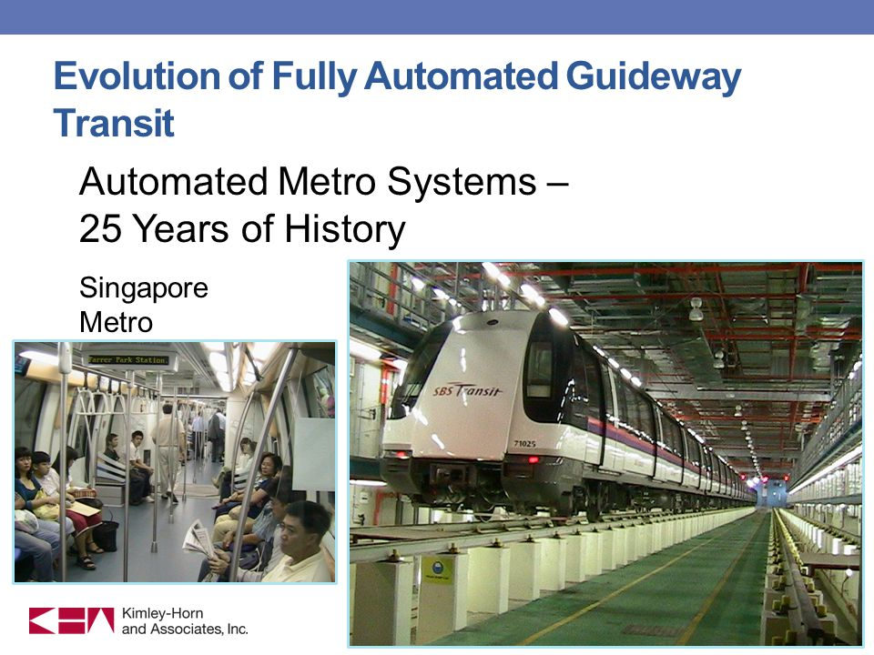 Evolution of Fully Automated Guideway Transit Automated Metro Systems – 25 Years of History Singapore Metro 7