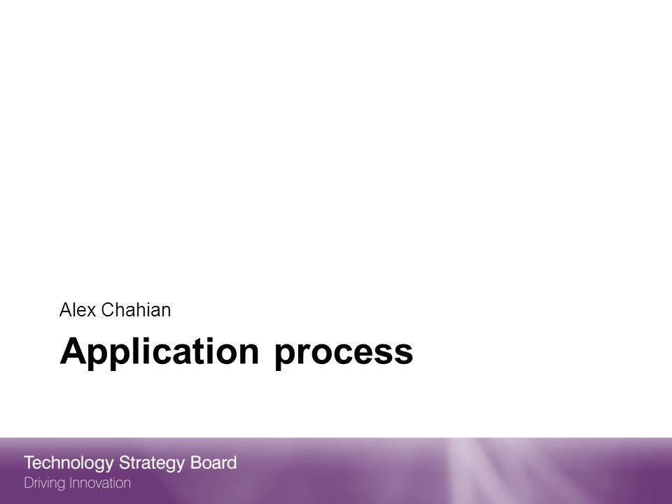 Application process Alex Chahian
