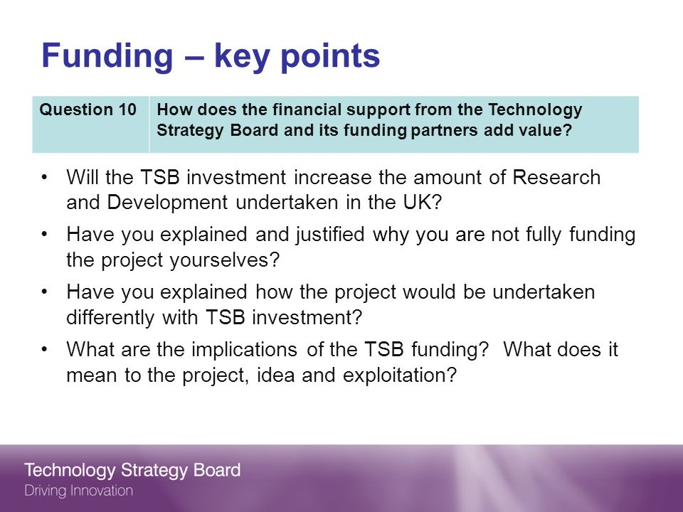 Will the TSB investment increase the amount of Research and Development undertaken in the UK.