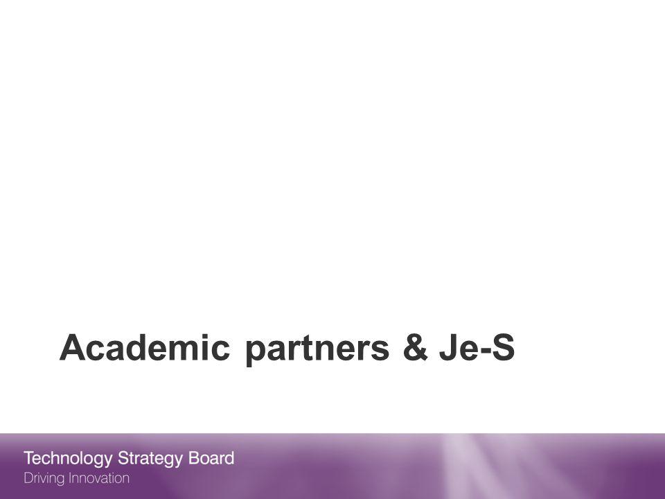 Academic partners & Je-S
