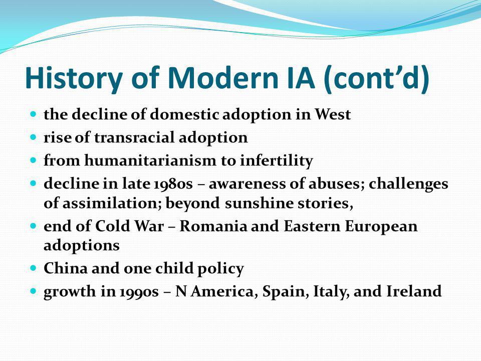 Pragmatism and regulation Recognize that inter-country adoption may be considered as an alternative means of child s care, if the child cannot be placed in a foster or an adoptive family or cannot in any suitable manner be cared for in the child s country of origin (UNCRC Article 21b) Hague Convention on Protection of Children and Co-operation in Respect of Intercountry Adoption 1993
