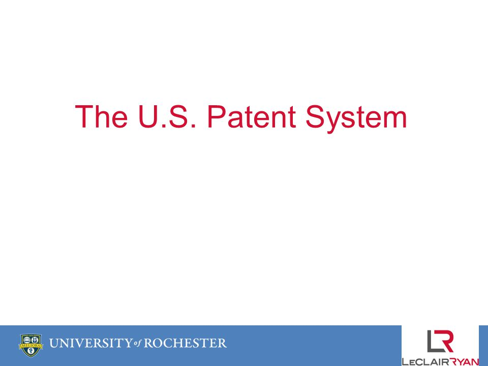 The U.S. Patent System