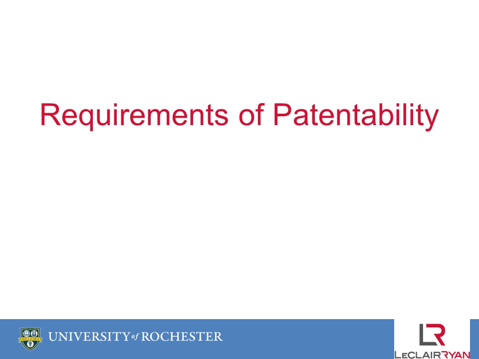 Requirements of Patentability