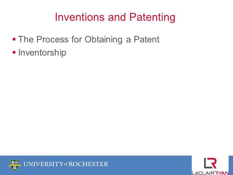 The Process for Obtaining a Patent Inventorship