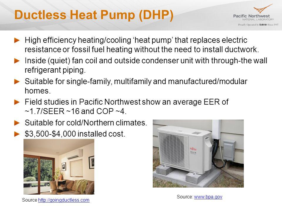 Heat Pump Water Heater High efficiency domestic water heater using air-source heat pump technology to heat water.