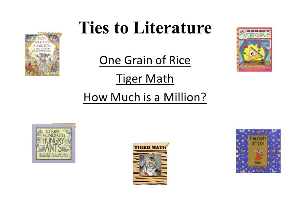 Ties to Literature One Grain of Rice Tiger Math How Much is a Million?