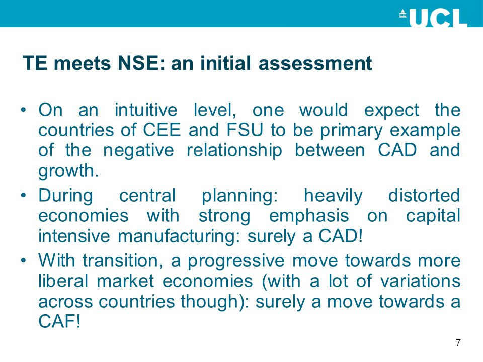 TE meets NSE: an initial assessment On an intuitive level, one would expect the countries of CEE and FSU to be primary example of the negative relatio