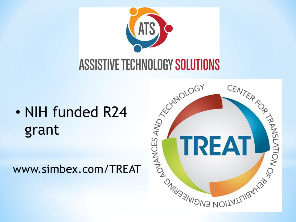 NIH funded R24 grant www.simbex.com/TREAT