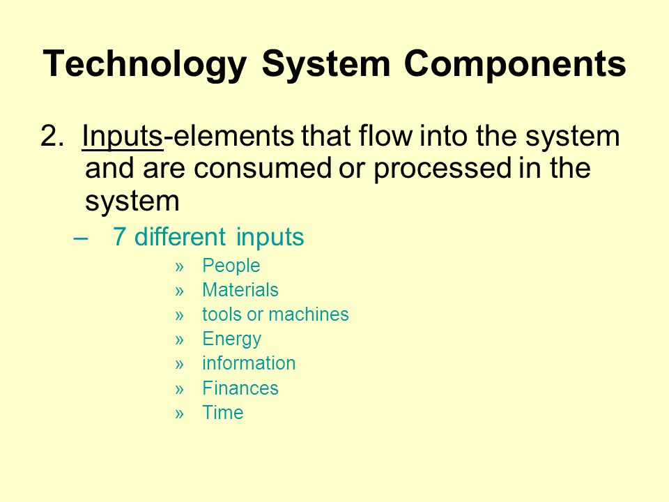 Technology System Components 2.
