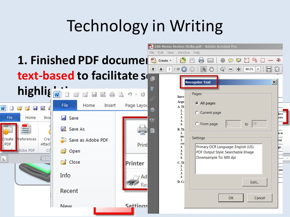 Technology in Writing 8. Save As Reduced Size PDF