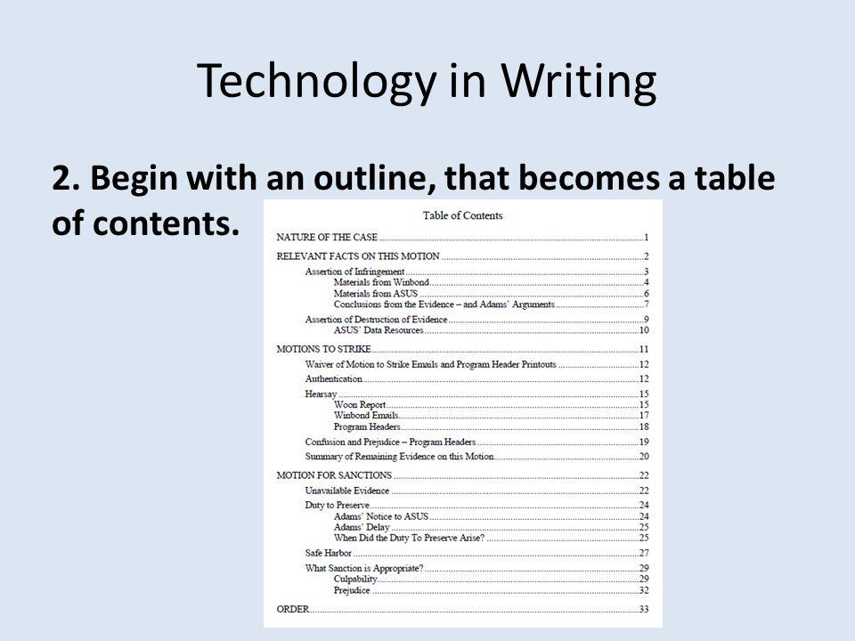 Technology in Hearings 7.