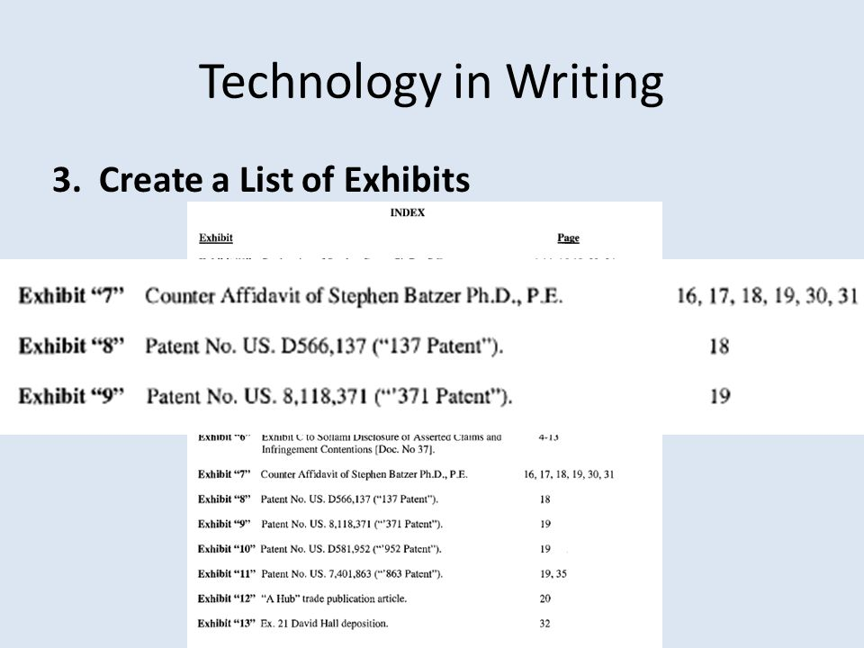 Technology in Writing 10. File attachments individually, with full descriptions