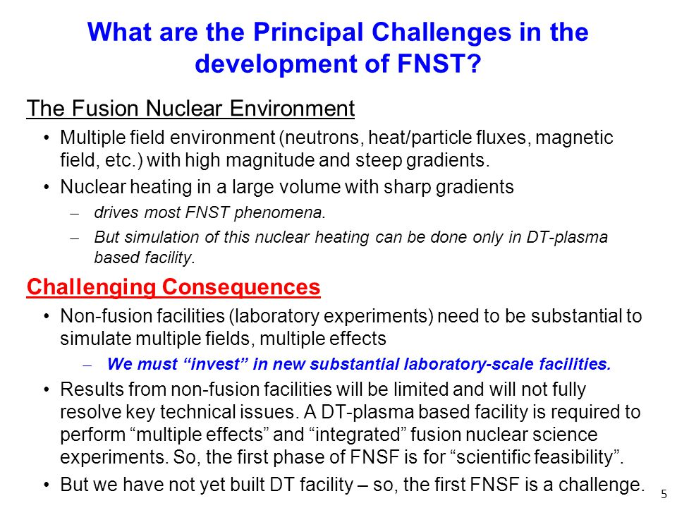 What are the Principal Challenges in the development of FNST.