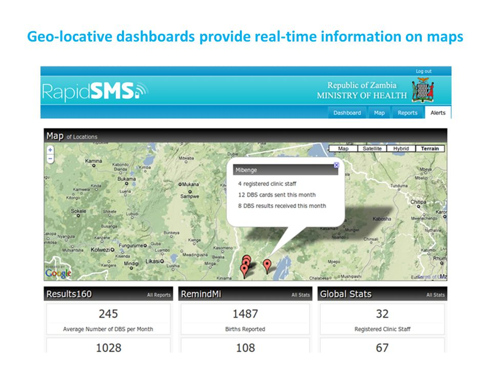 Geo-locative dashboards provide real-time information on maps