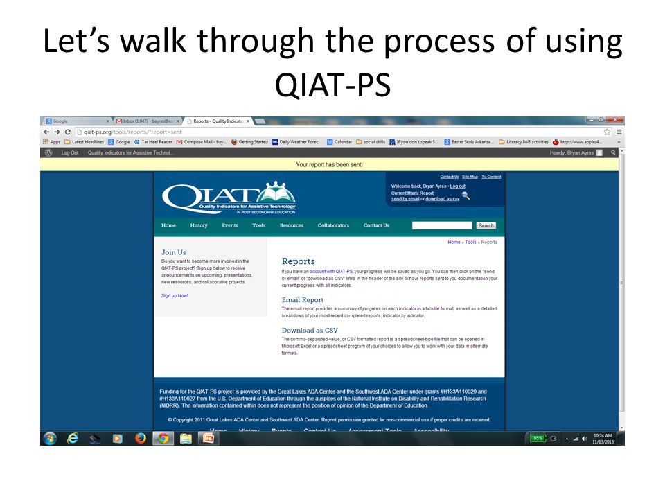 Lets walk through the process of using QIAT-PS
