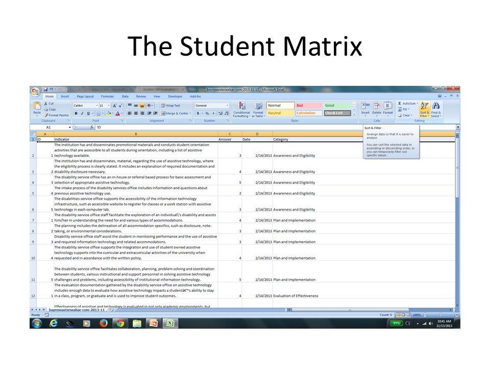 The Student Matrix
