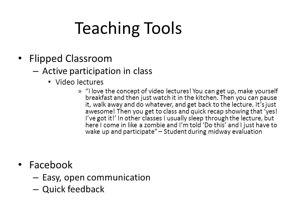 The other side of the coin Flipped Classroom – Mostly appreciated, created stress.