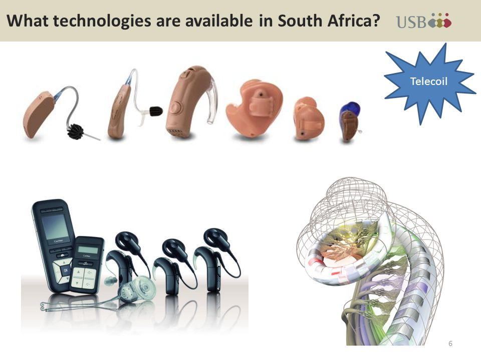 What technologies are available in South Africa? 7 Telecoil