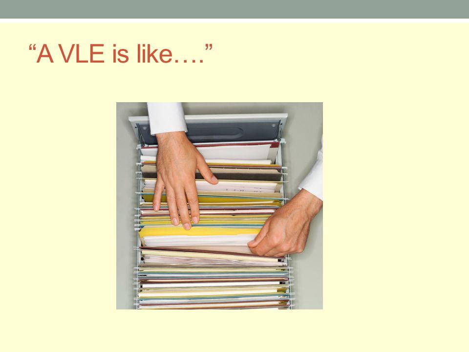 A VLE is like….