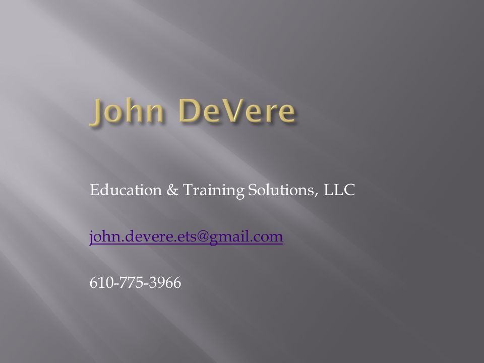 Education & Training Solutions, LLC