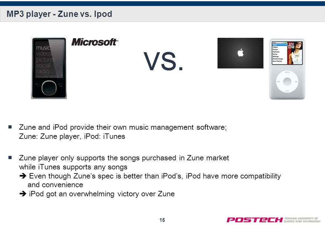 15 MP3 player - Zune vs.