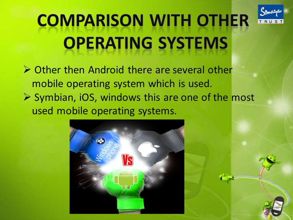 Other then Android there are several other mobile operating system which is used.