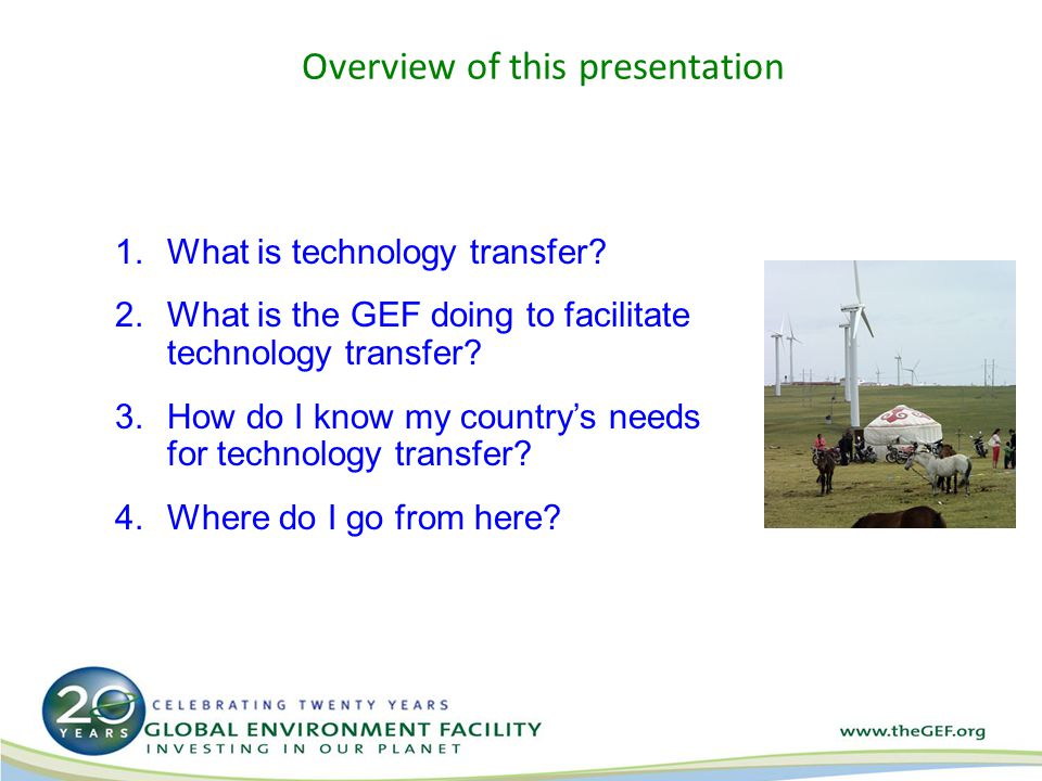 3.How do I know my countrys needs for technology transfer.