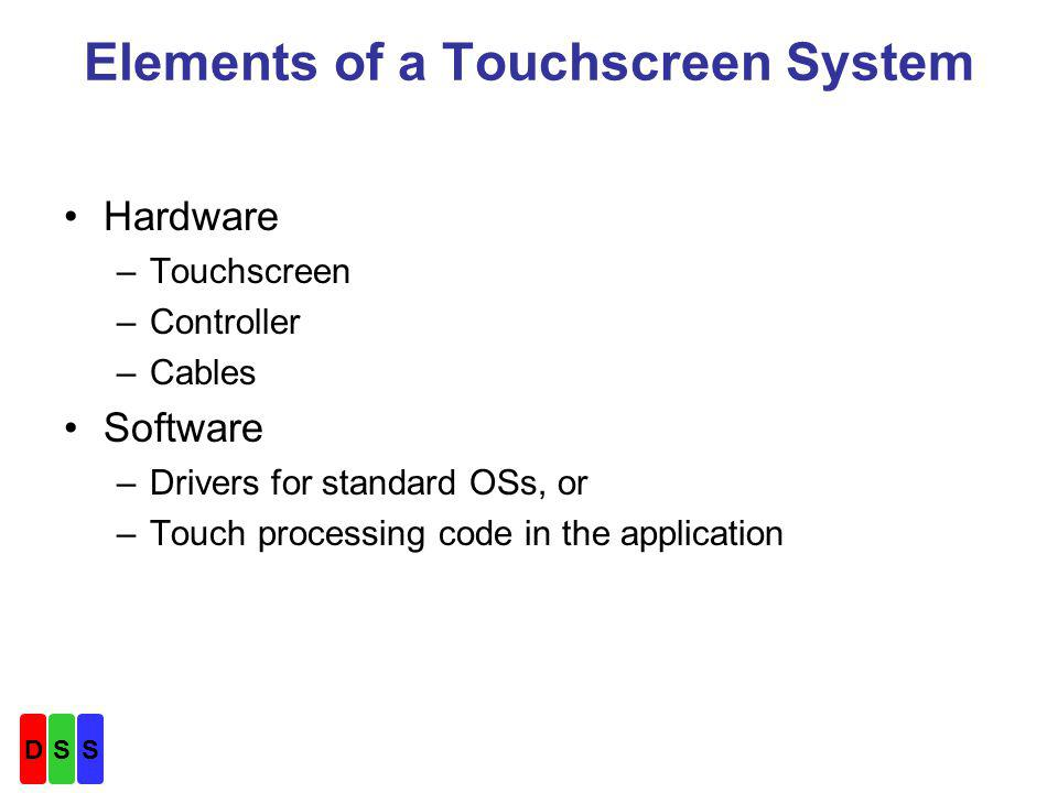Touchscreen Technology Descriptions Why consider 4W resistive in a new design.