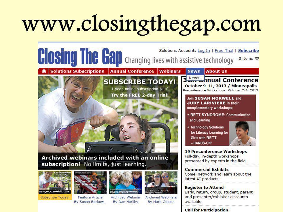 www.closingthegap.com