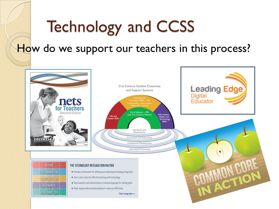 Technology and CCSS How do we support our teachers in this process