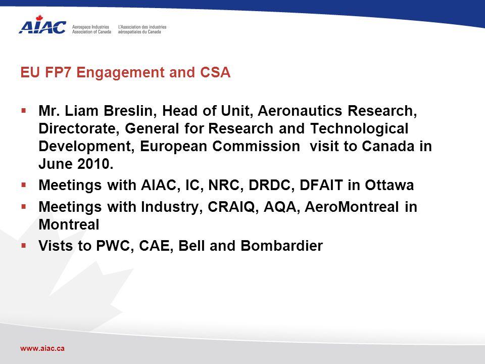 www.aiac.ca EU FP7 Engagement and CSA Mr.