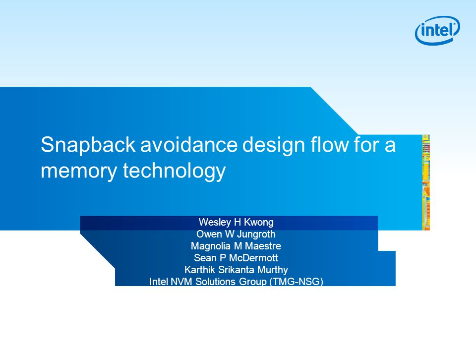 2 Overview The snapback problem and what is different for NVM Solutions.