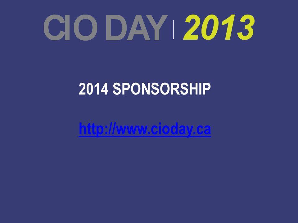 2014 SPONSORSHIP http://www.cioday.ca