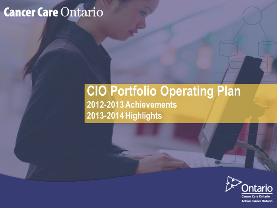 CIO Portfolio Operating Plan 2012-2013 Achievements 2013-2014 Highlights