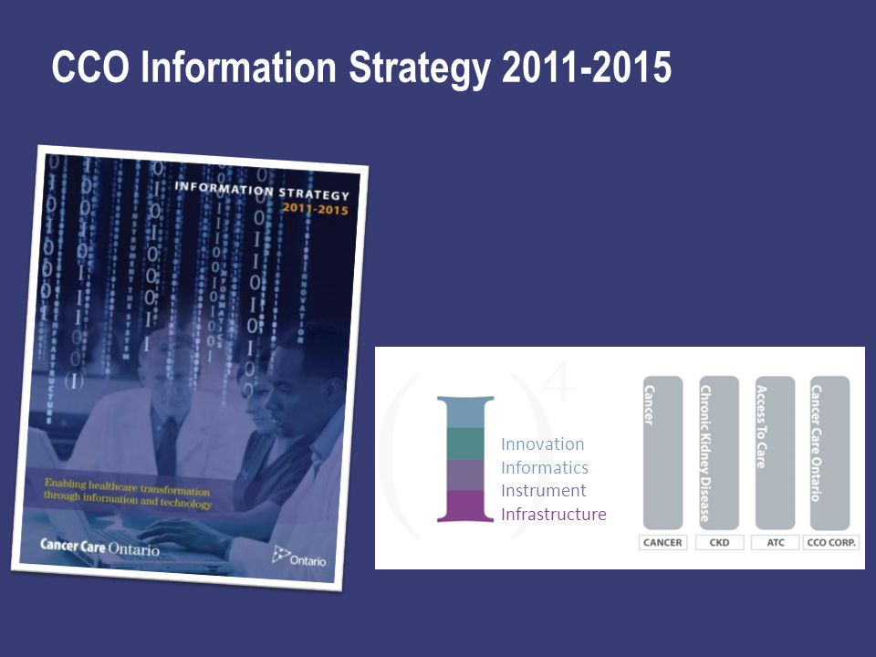Innovation Informatics Instrument Infrastructure CCO Information Strategy 2011-2015