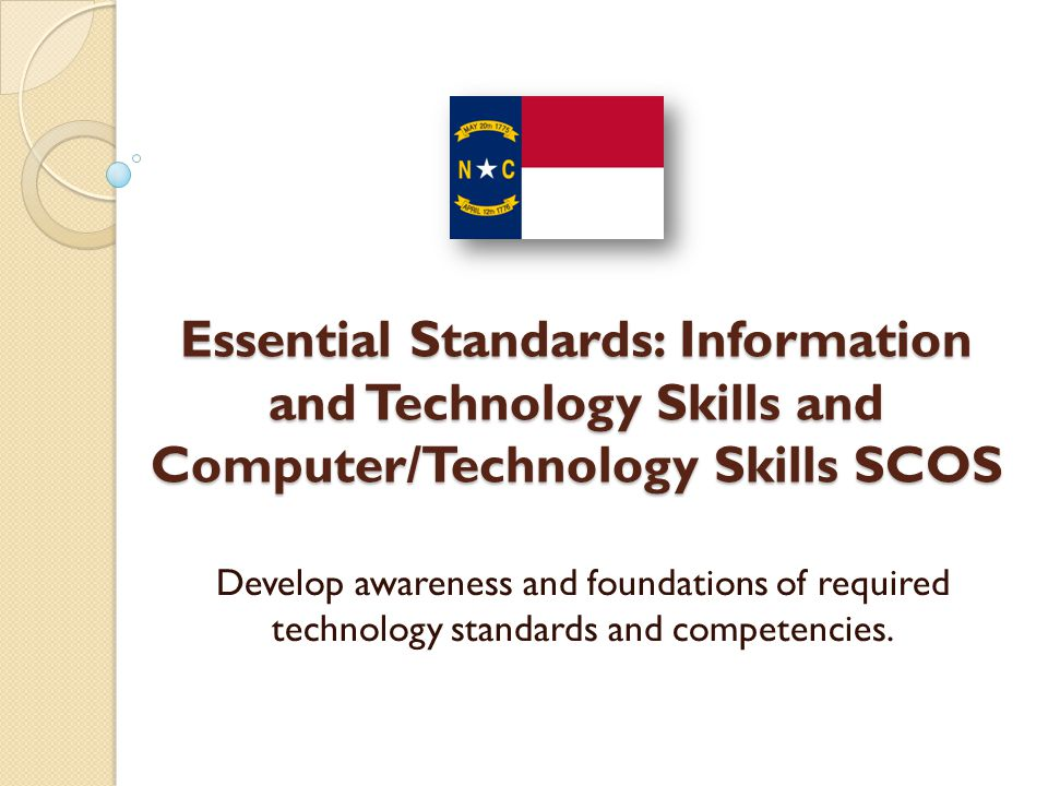 The current version of NETS for Students (NETS S) consists of performance indicators that indicates and outlines what the student should be able to achieve within technological literacy by the completion of a school year.