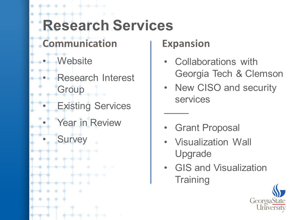 Survey on Research Technology IT Resource Needs for Research Being Met Types of Tools Needed to Enable Research