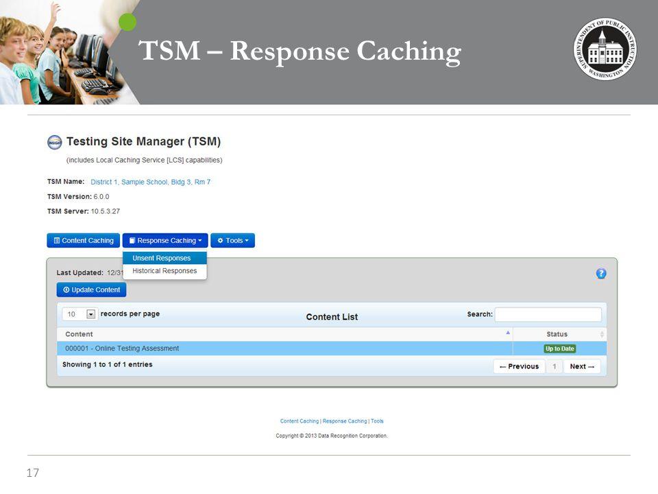 17 TSM – Response Caching