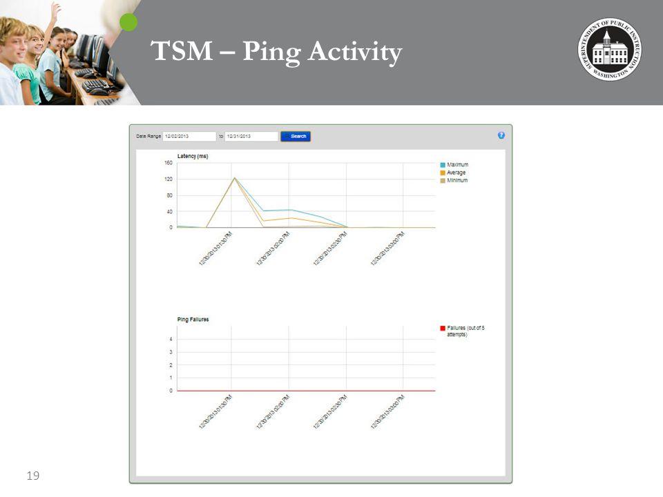 19 TSM – Ping Activity