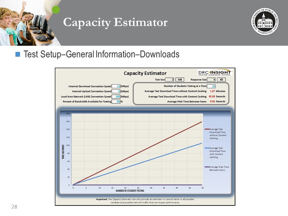 28 Capacity Estimator Test Setup–General Information–Downloads