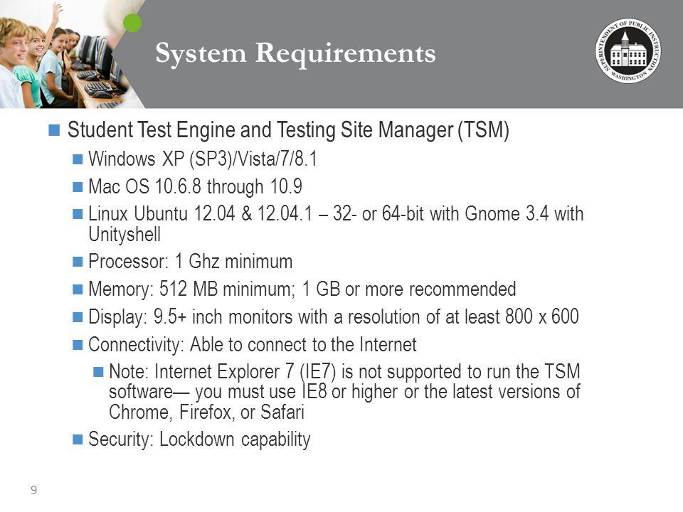 20 TSM – Load Simulation Testing