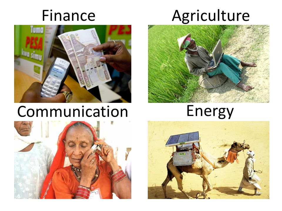 Finance Communication Energy Agriculture