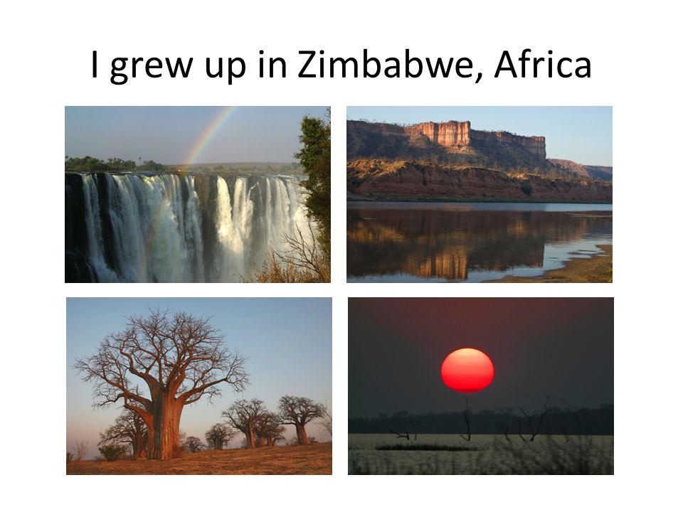 I grew up in Harare, Zimbabwe, Africa