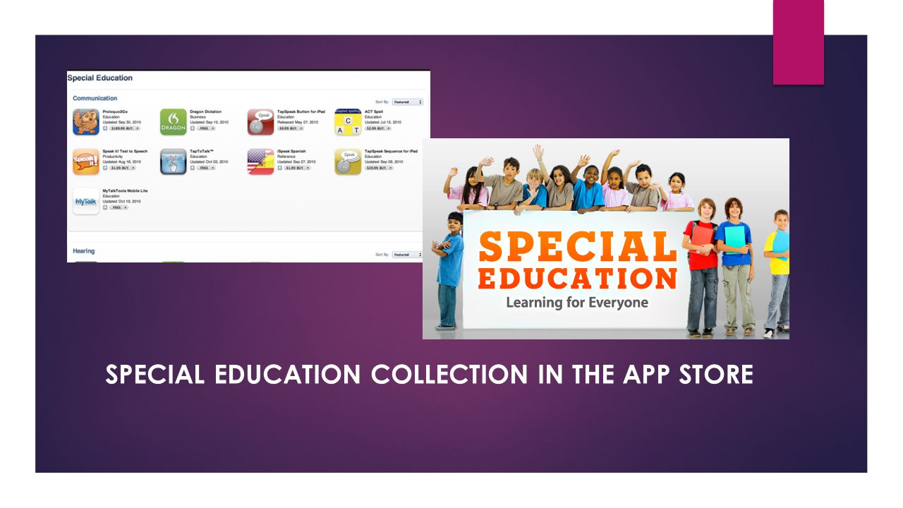 SPECIAL EDUCATION COLLECTION IN THE APP STORE