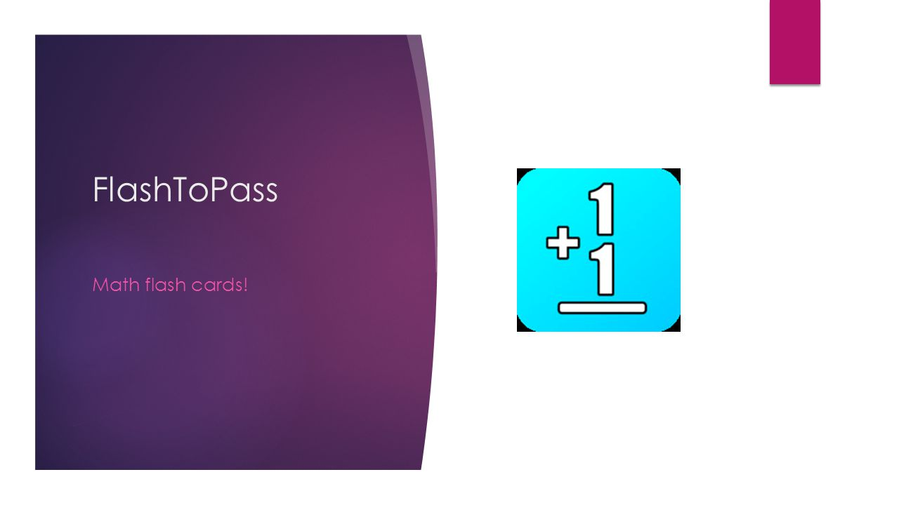 FlashToPass Math flash cards!