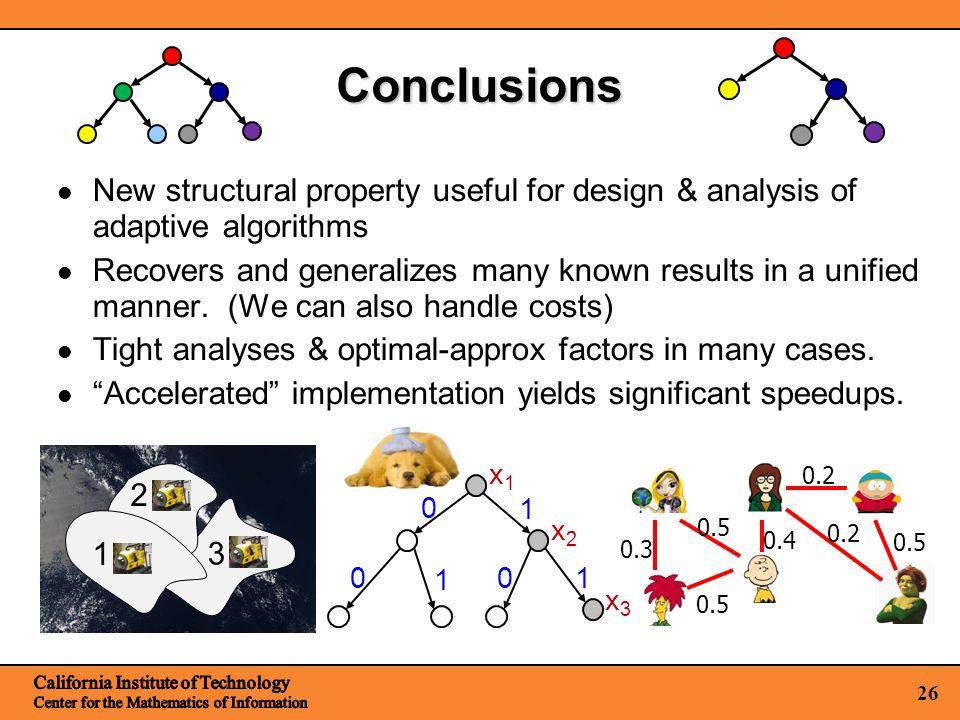 26 Conclusions New structural property useful for design & analysis of adaptive algorithms Recovers and generalizes many known results in a unified manner.