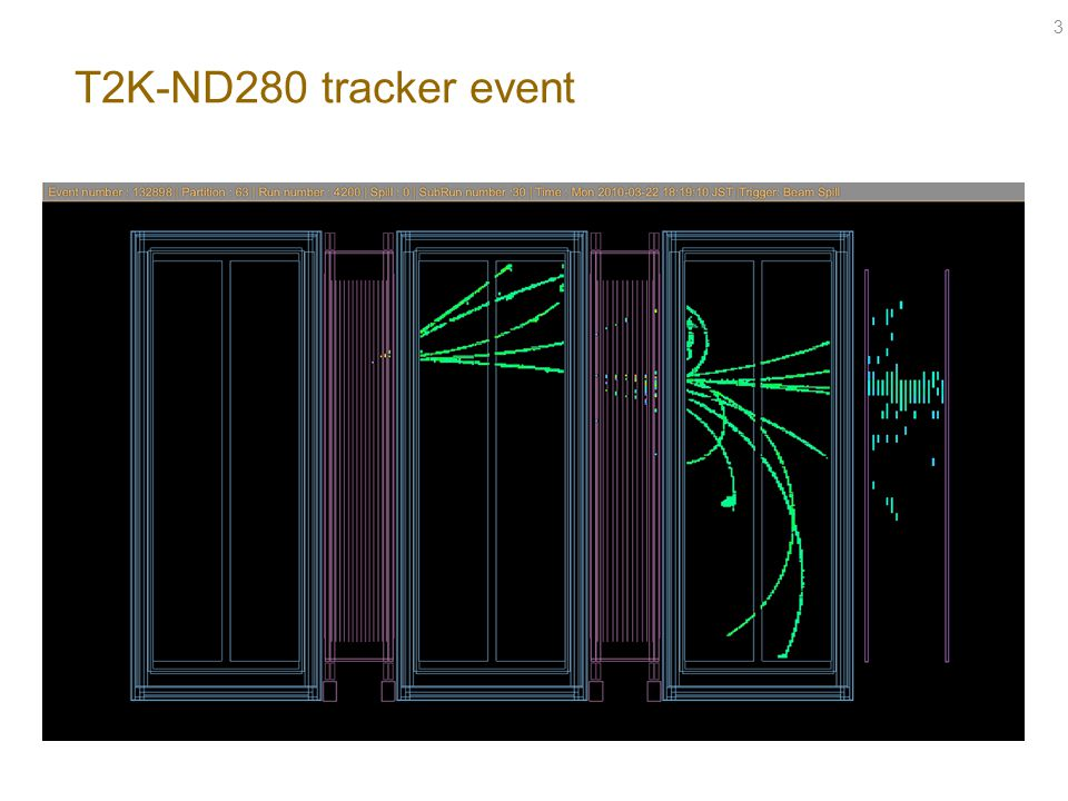 T2K-ND280 tracker event 3