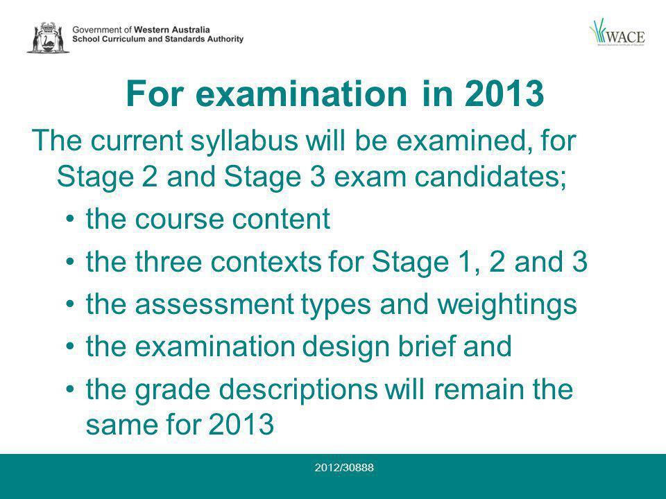 Conclusion Acknowledgements Contact: Jennifer Wheatley 9273 6335 or jennifer.wheatley@scsa.wa.edu.au jennifer.wheatley@scsa.wa.edu.au Thank you 2012/30888