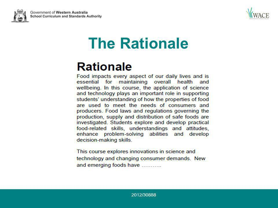 The Rationale 2012/30888