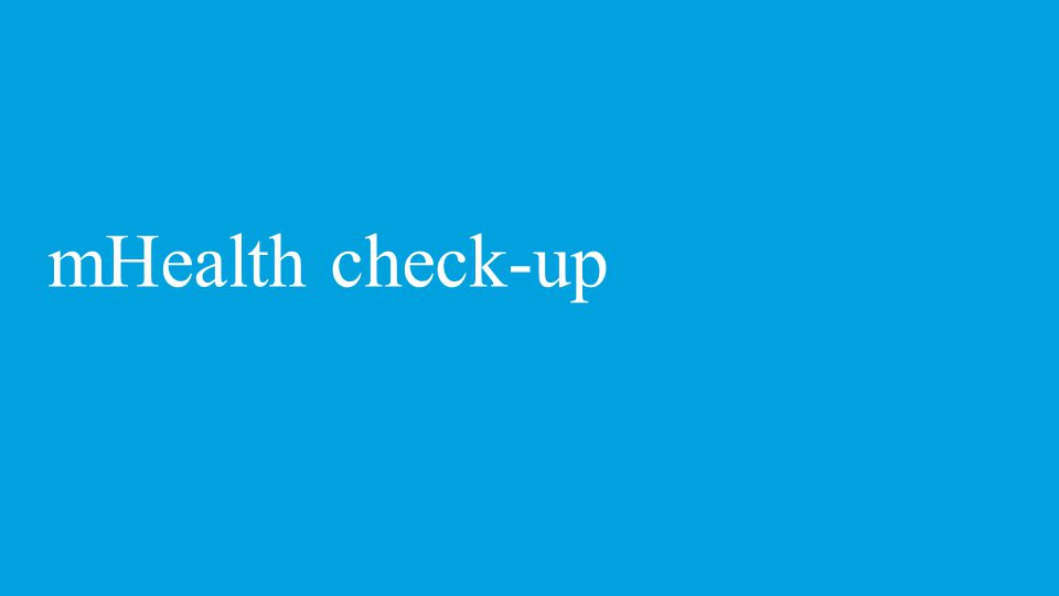 mHealth check-up